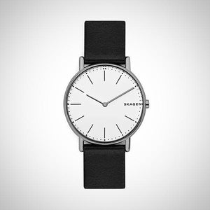 Skagen SKW6419 Mens Signatur Black Leather Watch