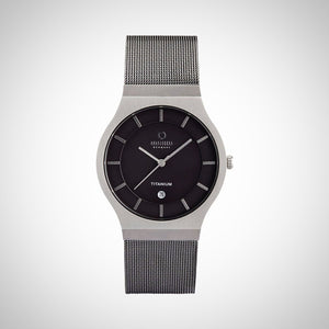 Obaku V123GTJMJ Men's Grey Dial Titanium Case Watch