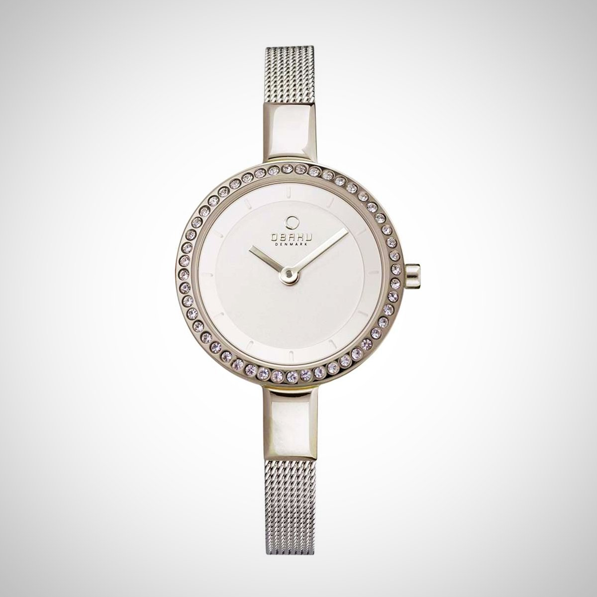 Obaku V129LECIMC Ladies White Dial Quartz Watch