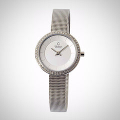 Obaku V146LECIMC Women's White Dial Quartz Watch