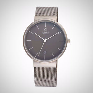 Obaku V153GDTJMJ Men's Silver Strap Stainless Steel Case Watch