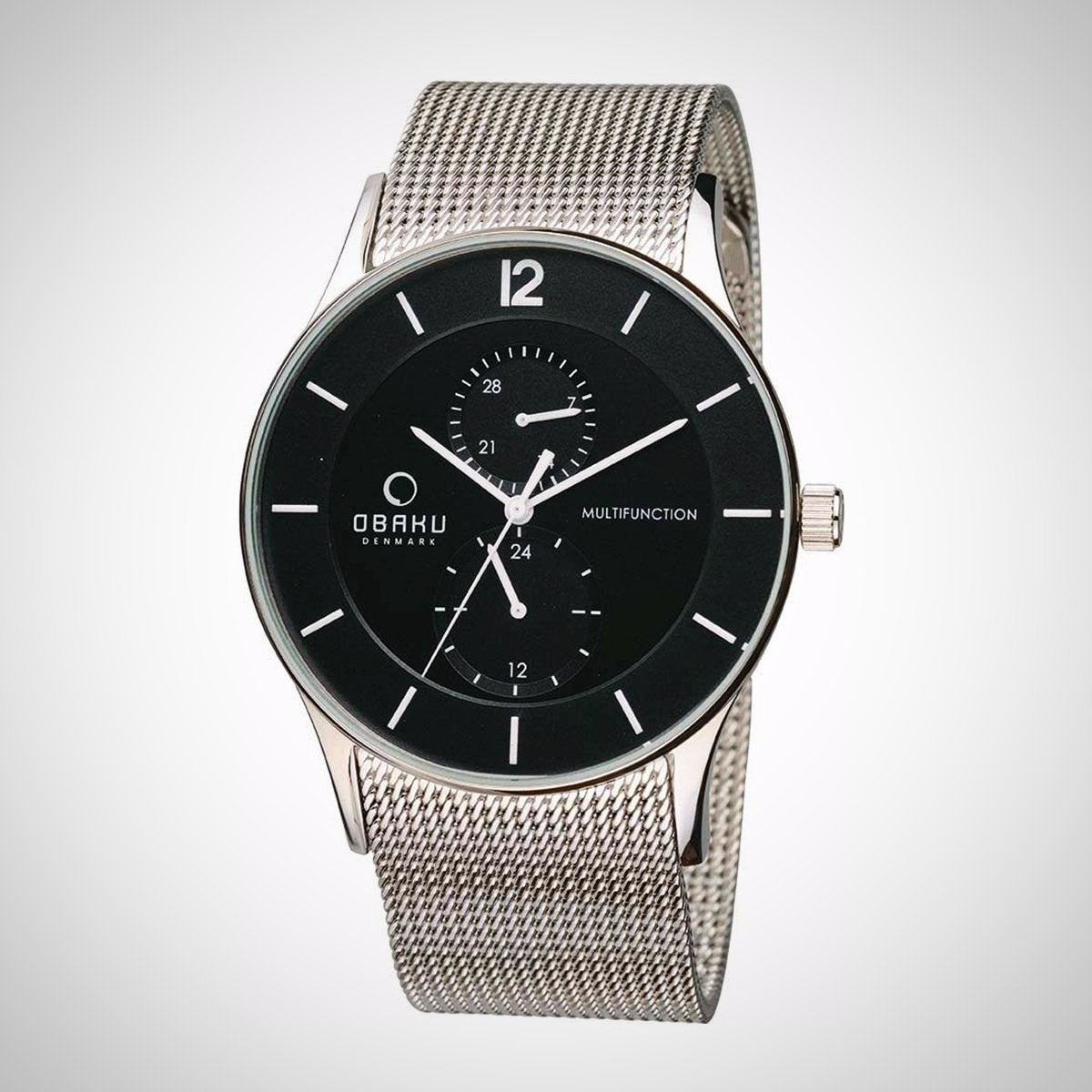 Obaku V157GMCBMC Men's Silver Strap Stainless Steel Watch