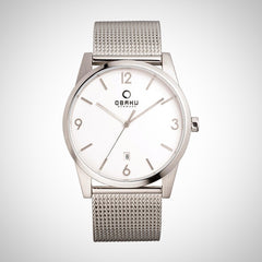 Obaku V169GDCIMC Men's Stainless Steel White Dial Watch