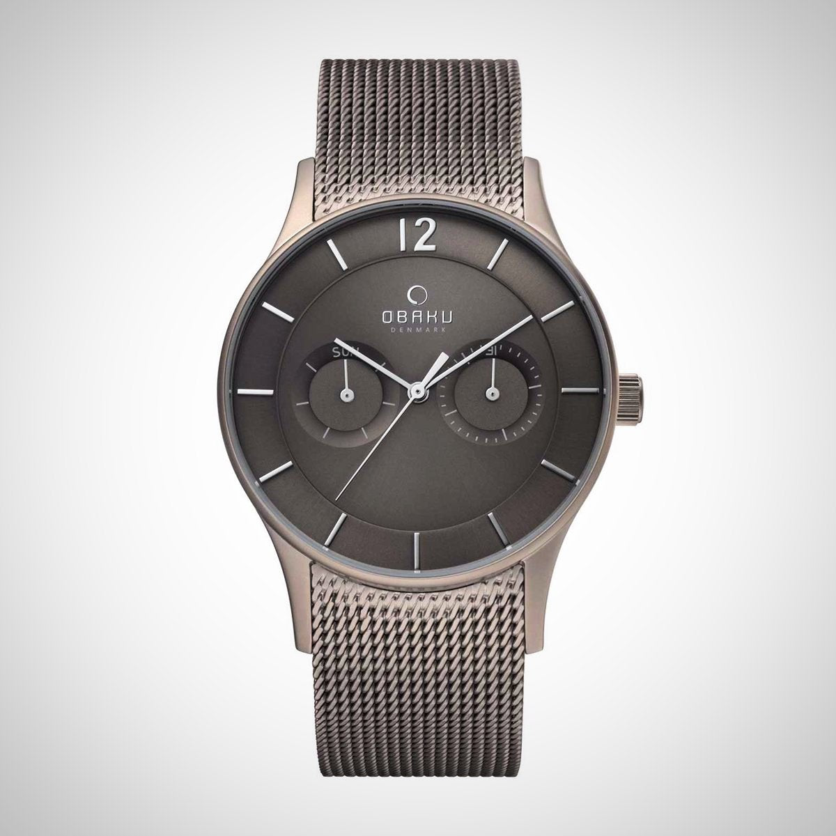 Obaku V175GMTJMJ Men's Titanium Case Watch