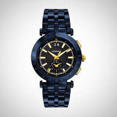 Versace VAH050016 V-Race Men's Blue-Ion Plated Watch