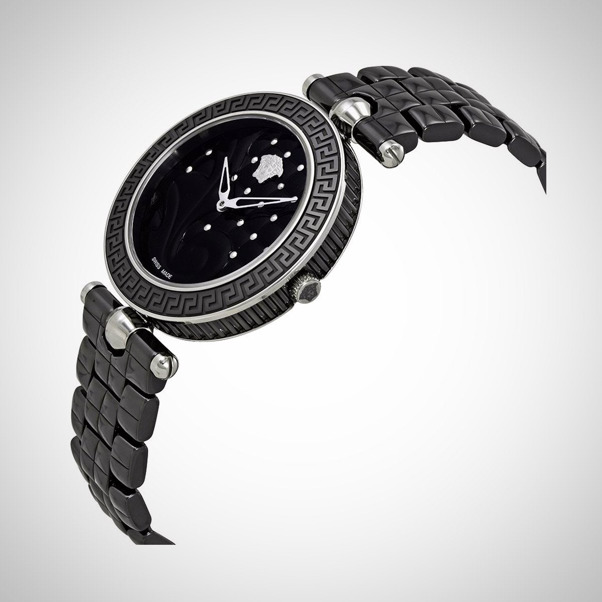 Versace VAO020016 Vanitas Black Quilted Dial Ladies Watch