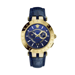 Versace VEBV00219 V-Race Mens Blue Leather Watch
