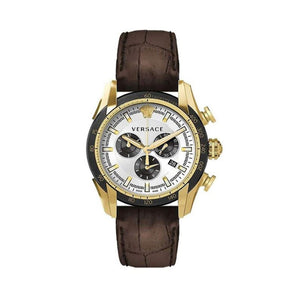 Versace VEDB00619  V-Ray Men's Brown Leather Watch