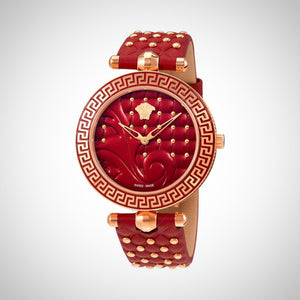 Versace VK7750017 Vanitas Ladies Red Dial Swiss Watch