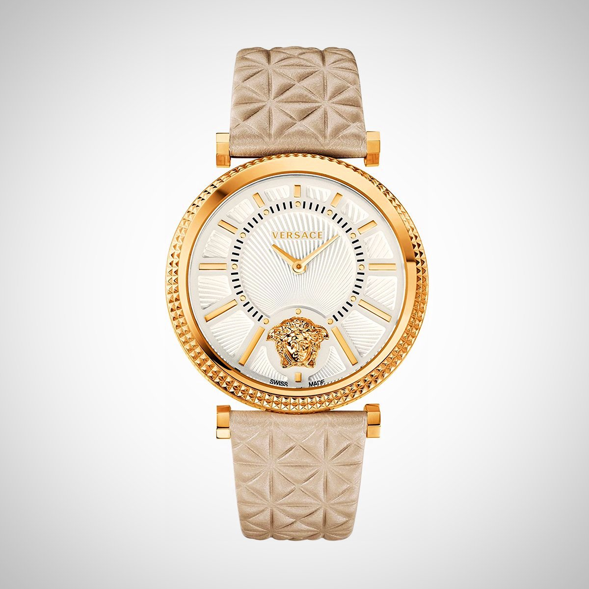 Versace V-Helix VQG030015 Ladies' PVD Gold Plated Swiss Quartz Watch