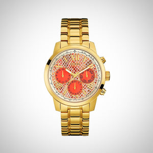 Guess W0330L11 Ladies Orange Dial Multi-Function Watch