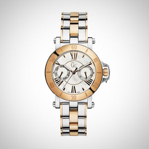 GC X74002L1S 'Femme Ladies Silver Gold Plated Swiss Watch