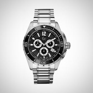 Guess Collection X76008G2S Mens Chronograph Stainless Steel Black Dial Watch
