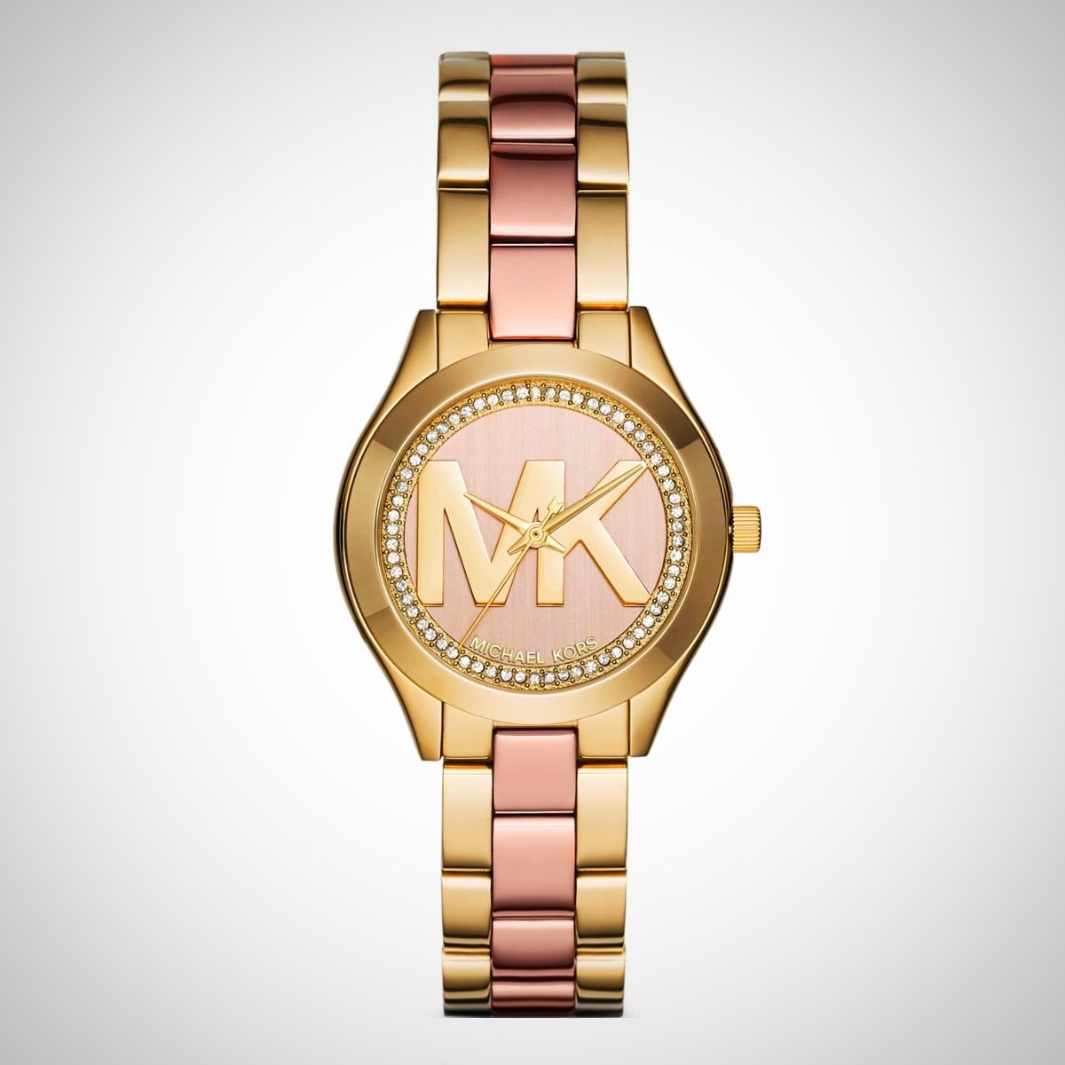 Michael Kors MK3650 Mini Slim Runway Rose Gold-tone Dial Ladies Watch