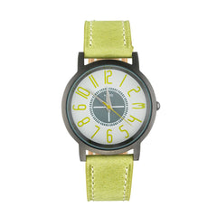 Nero 95 Amalfi Ladies' Lime Green Leather Strap Quartz Watch