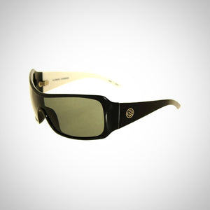 Filtrate Audio Black and White Frame Unisex Sunglasses