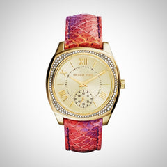 Michael Kors MK2387 Ladies Bryn Multicolor Python Painted Leather Strap Watch