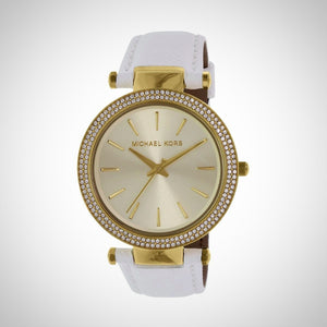 Michael Kors MK2391 Ladies White Calfskin Watch