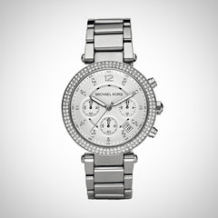 Michael Kors MK5353 Ladies Parker Silver Chronograph Watch