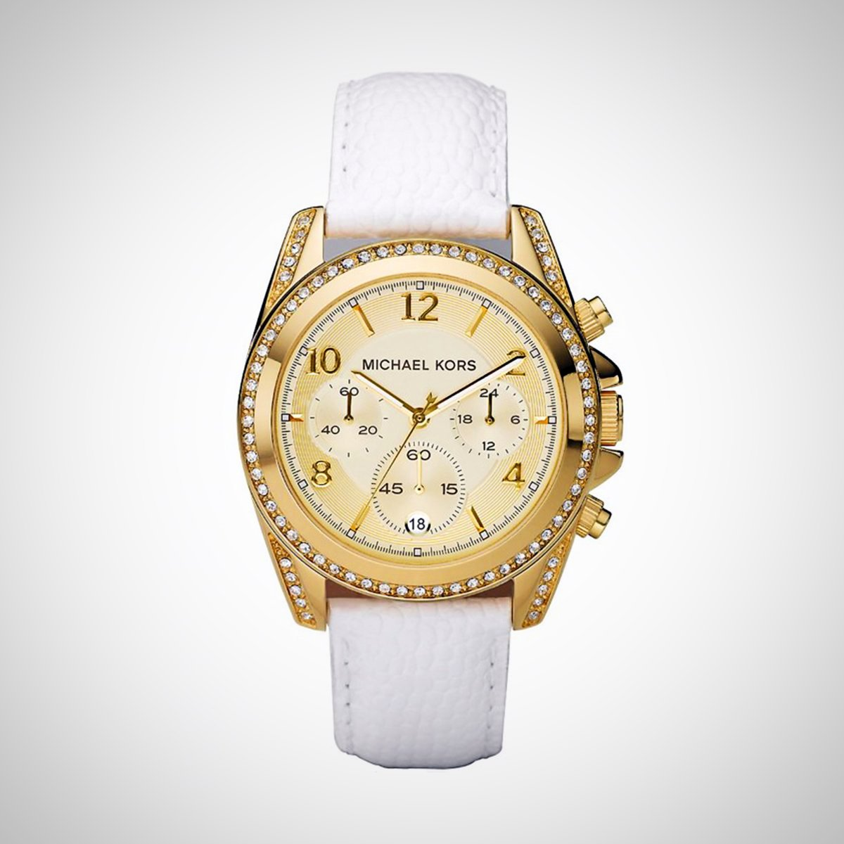 Michael Kors MK5460 Ladies' Chronograph Gold- tone Stainless Steel Case Watch