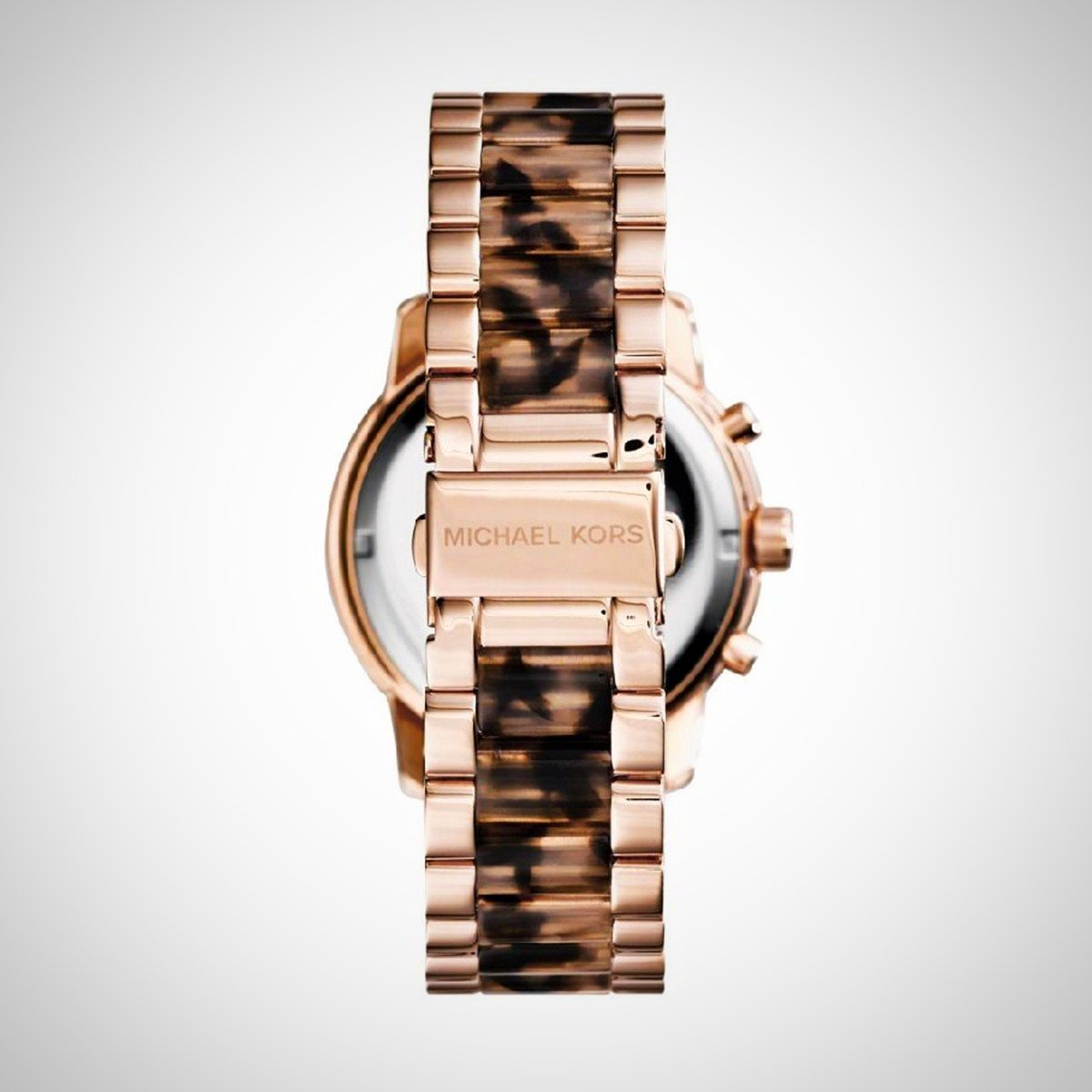 Michael Kors MK6155 Ladies Cooper Tortoise Acetate Rose Gold Watch