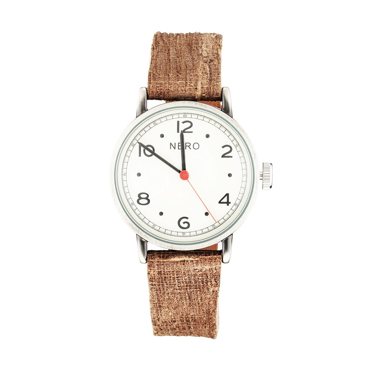 Nero 103 Veneto Unisex Chocolate Leather Strap Quartz Watch