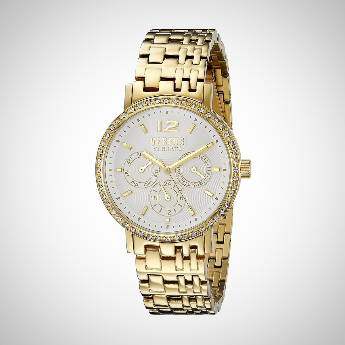 Versus by Versace SOR120015 Ladies Gold Case White Dial Watch