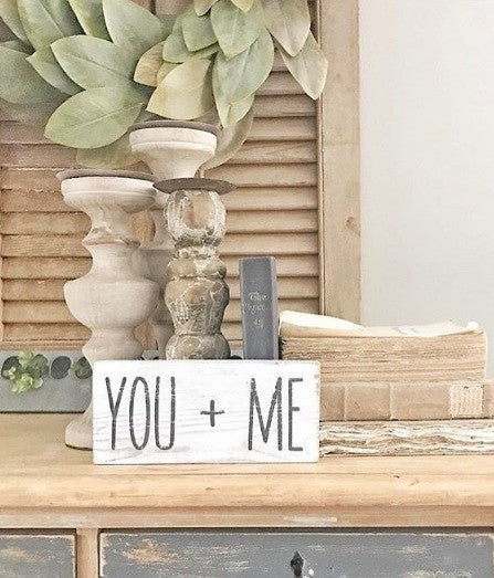 You and Me Wooden Framed Sign