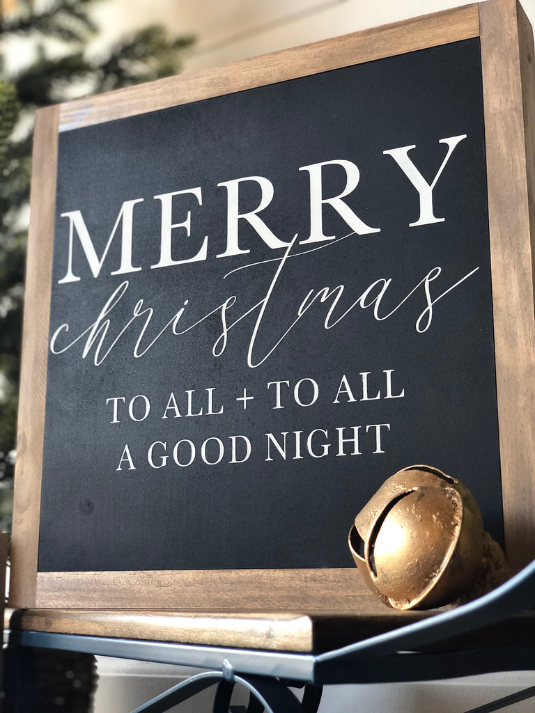 Merry Christmas To All Wooden Sign