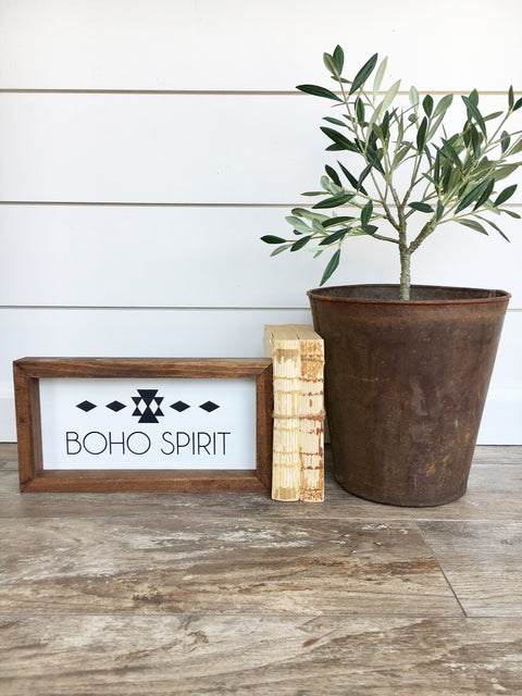Boho Spirit Wooden Sign