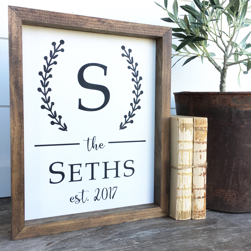 Custom Last Name Wooden Sign