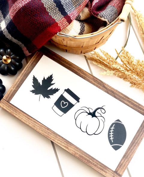 Favorite Fall Things Wooden Sign