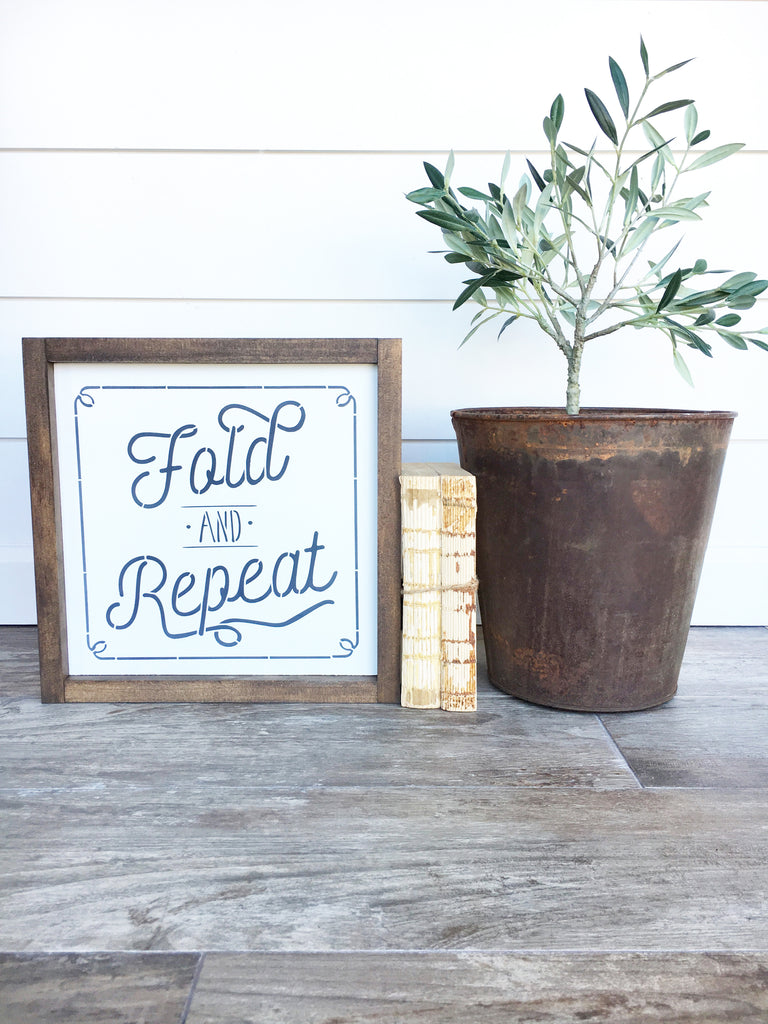 Fold & Repeat Wooden Sign