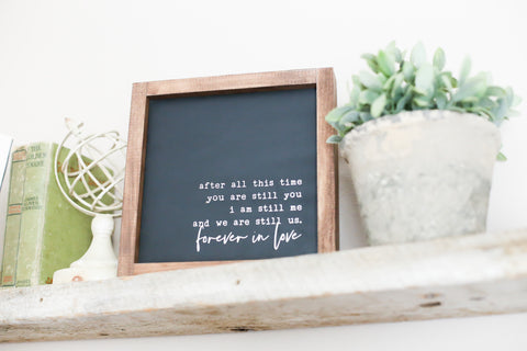 Forever In Love Wooden Sign