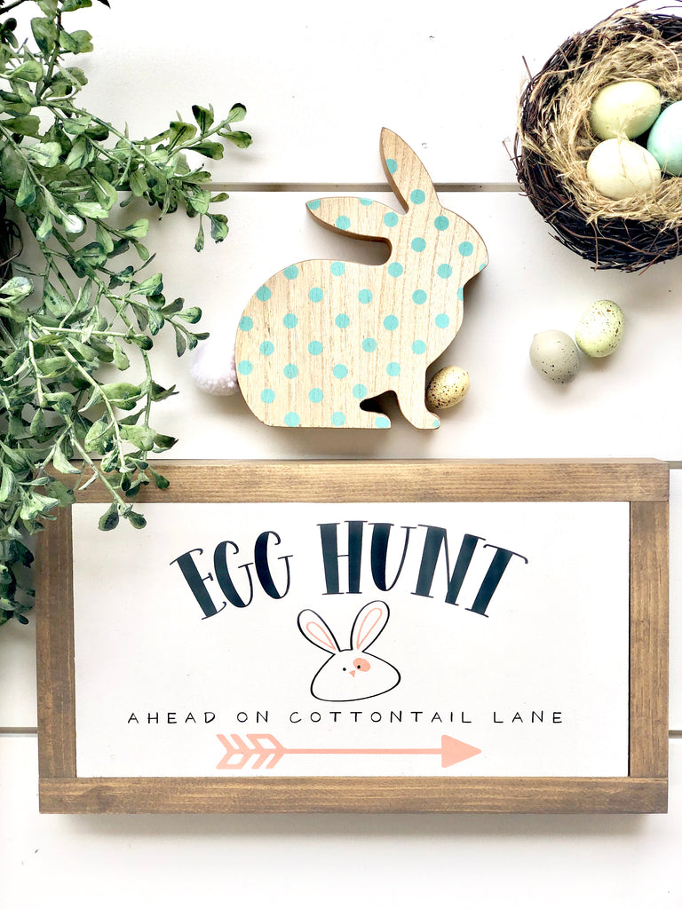 Egg Hunt Wooden Sign