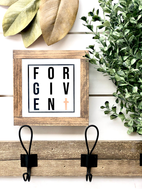 Forgiven Wooden Sign