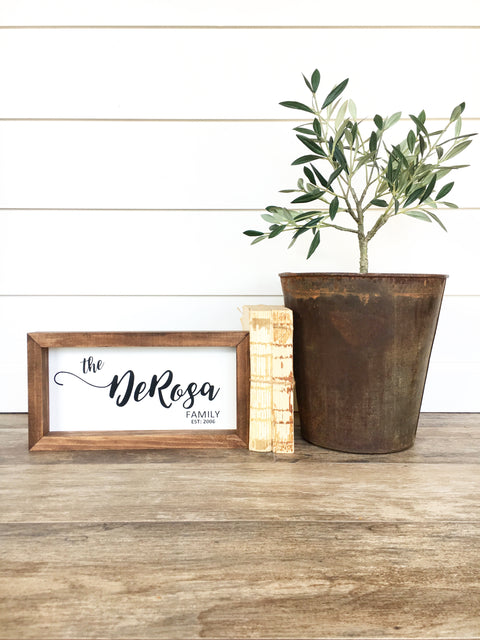 Customizable Last Name Mini Wooden Sign