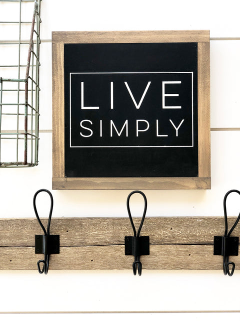 Live Simply Wooden Sign