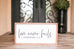 Love Never Fails Wooden Sign