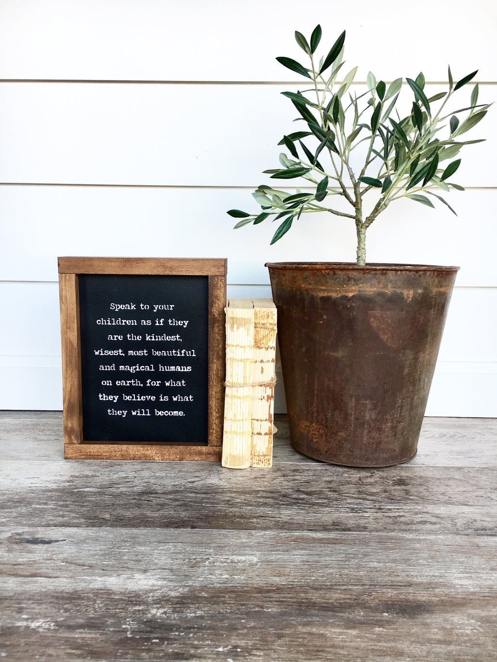 Speak To Your Children Framed Wood Sign