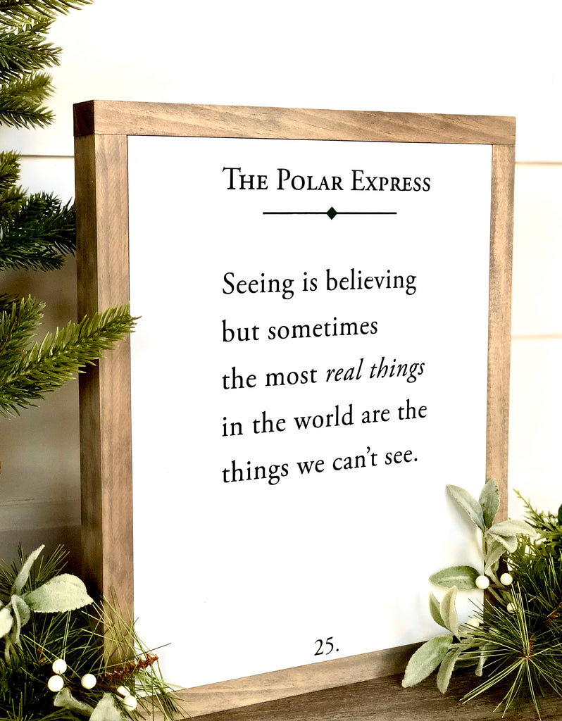 The Polar Express Wooden Sign
