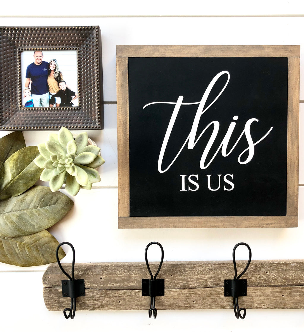 This Is Us Wooden Sign