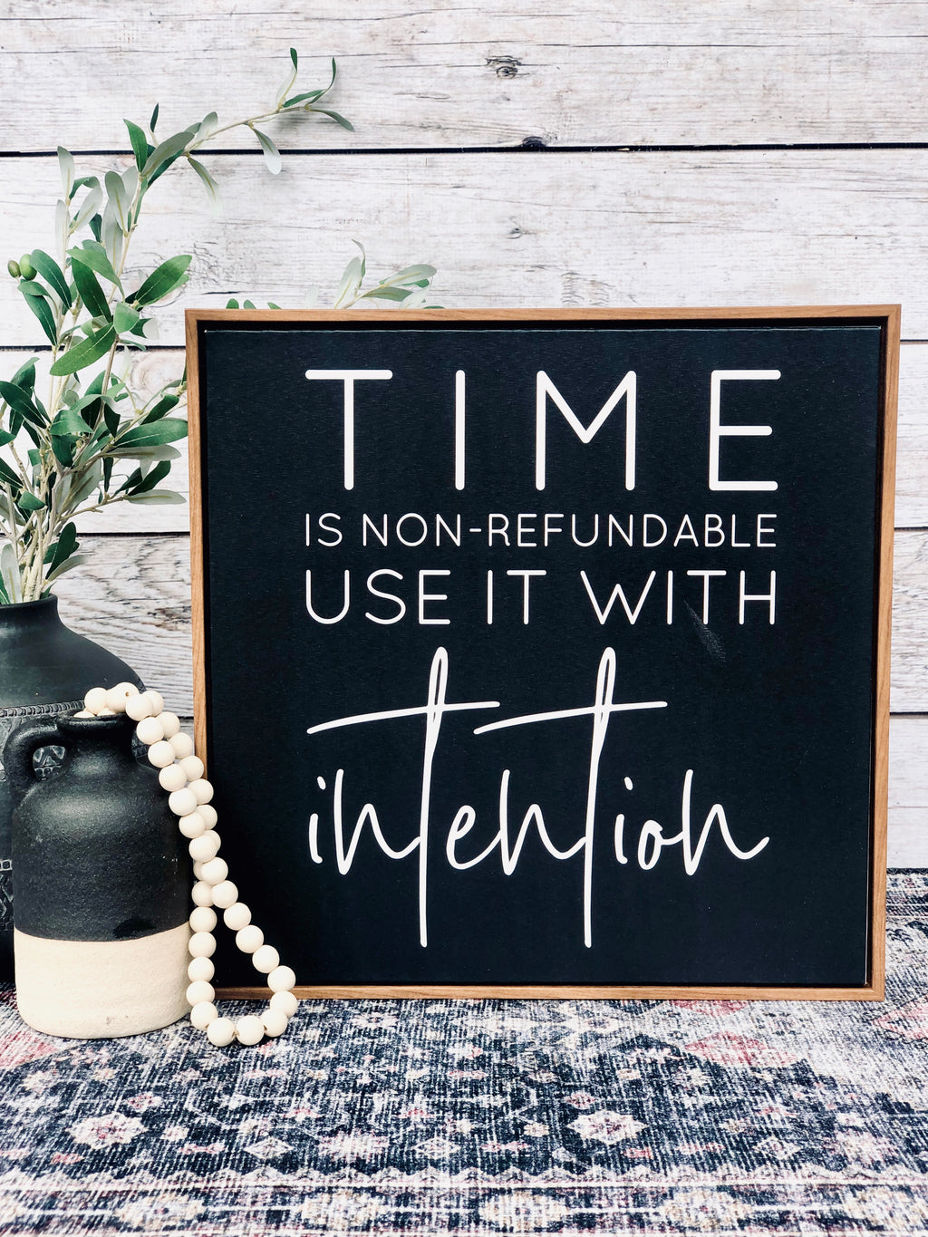 Time ls Non-Refundable Canvas Sign