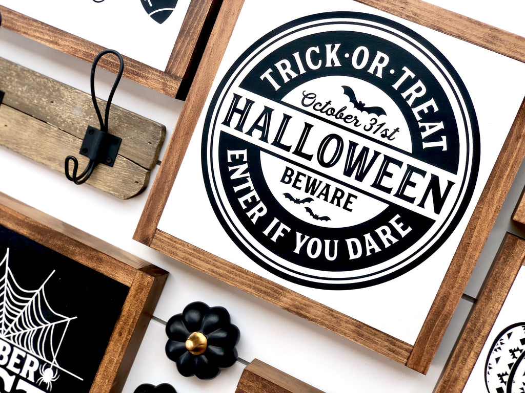 Trick Or Treat Wooden Sign
