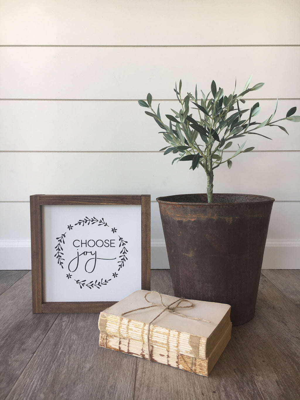 Choose Joy Wooden Framed Sign