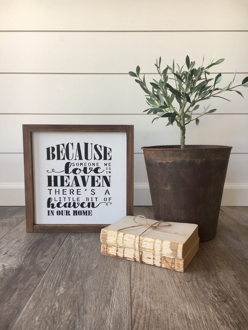 Heaven in Our Home Wooden Framed Sign