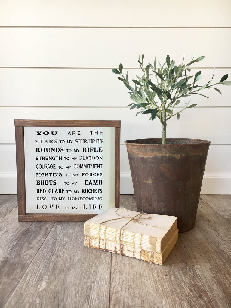 Love of My Life Military Wooden Sign