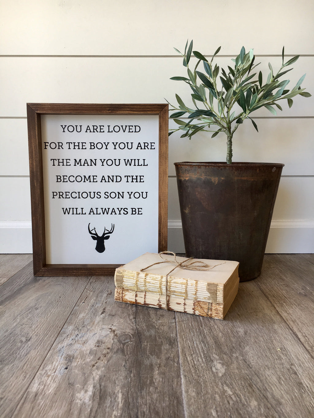 Son You'll Be Wooden Framed Sign