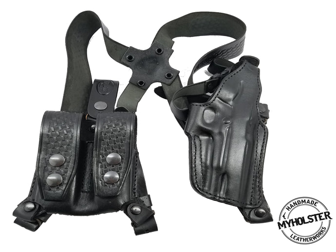 GLOCK 17, 22, 31 Shoulder Holster System with Double Mag Pouch