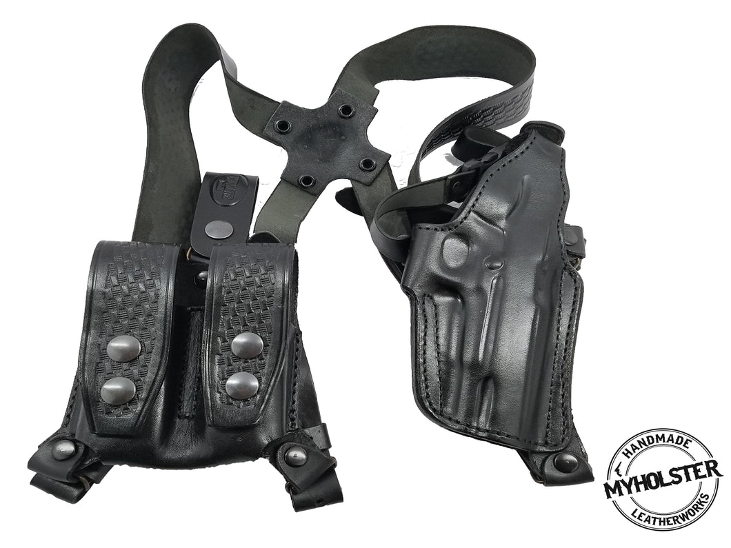 Shoulder Holster System with Double Mag Pouch for Smith & Wesson M&P 45 4.5